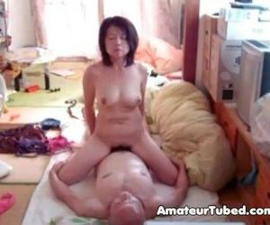 Japanese milf riding