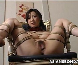 Toy fucked tied up and..
