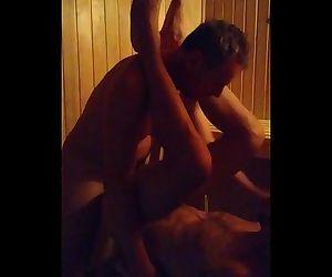 Dad Son Bareback Sauna..