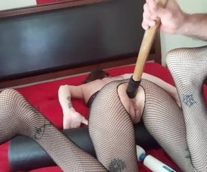 Slave Ruby anal dildo..