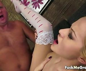 Old man with a young slut