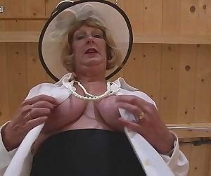 British granny playing..