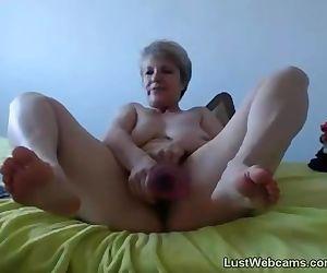 Blonde granny..