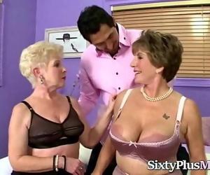 Horny Grannies Share a..