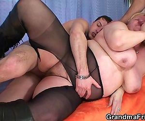 Busty granma in..