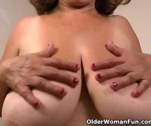 Silky nylon gets granny..
