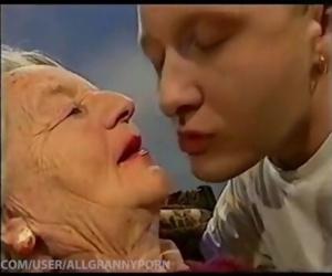 Granny kissing