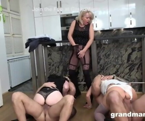 First Ever Granny Orgy!..
