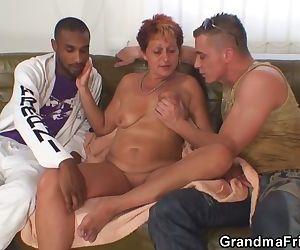 Sexy grandma sucks and..