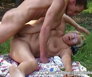 Mature Lady Lures Young..