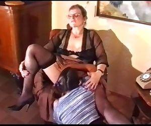 Lesbian granny punishes..