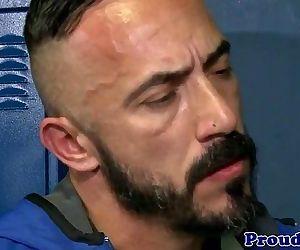 Athletic gay coach..