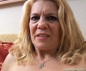 Mature babe has a..