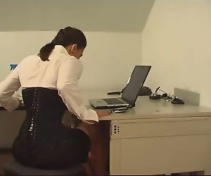 Office pantyhose foot..