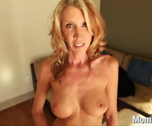 Horny MILF fucks and..