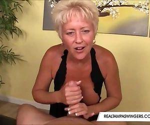 Miss Tracy Milks His Cock