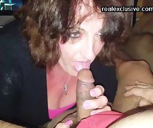 busty mom Peggy devours..