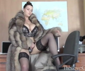 Fur coat seduction