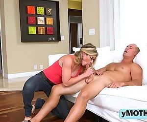 Horny mom and her..