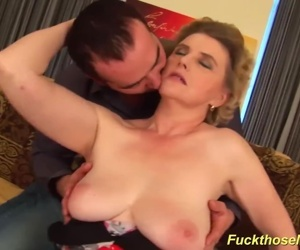busty hairy mature gets..