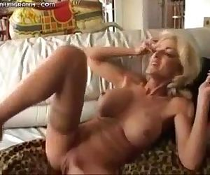 MILF fucks, squirts and..