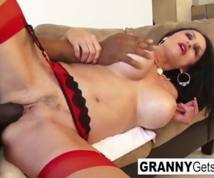 Busty brunette granny..
