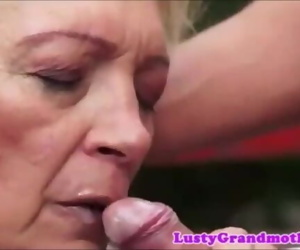 granny mouth cum..