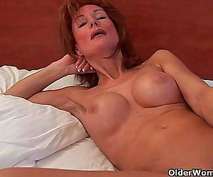 Sultry grandma probes..