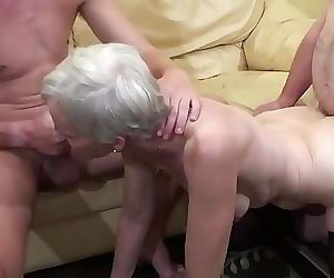 Old woman makes a..