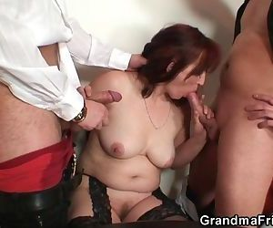 Granny loses in strip..