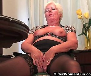 Chubby Granny In Black..