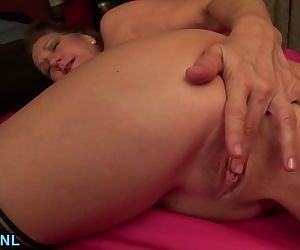 Horny mature taking off..