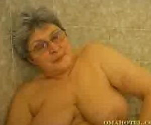 Hot granny having fun..
