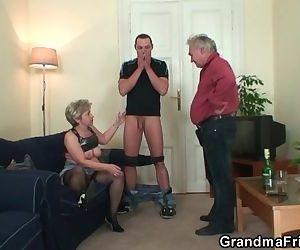 Nasty granny takes two..