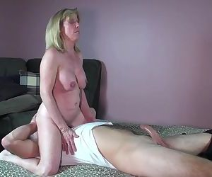 MILF Sucks and Fucks A..