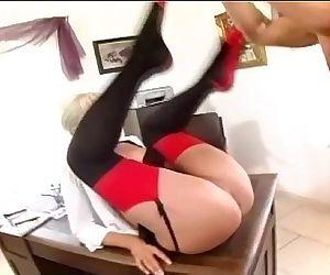 Blonde secretary fucked..