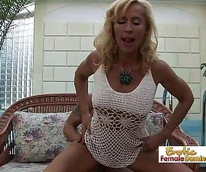 Mature blonde with a..