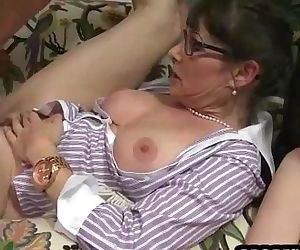 Horny threesome on the..