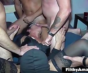 My wife first Gangbang!..