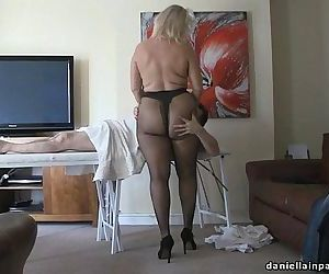 pantyhose massage big..