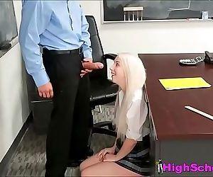 Schoolgirl Hides From..