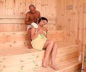Incredibly horny sauna..