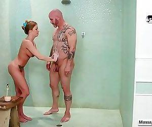 Hot busty masseuse..