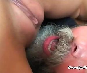 Teen gets banged by..